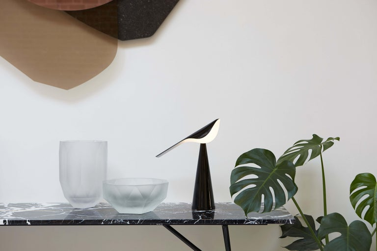 Modern Established & Sons Tiki Table Light in Glossy Black by Nao Tamura For Sale