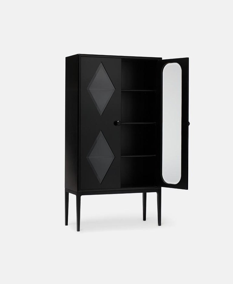 Modern Established & Sons Tudor Two-Door Cabinet in Black by Jaime Hayon For Sale