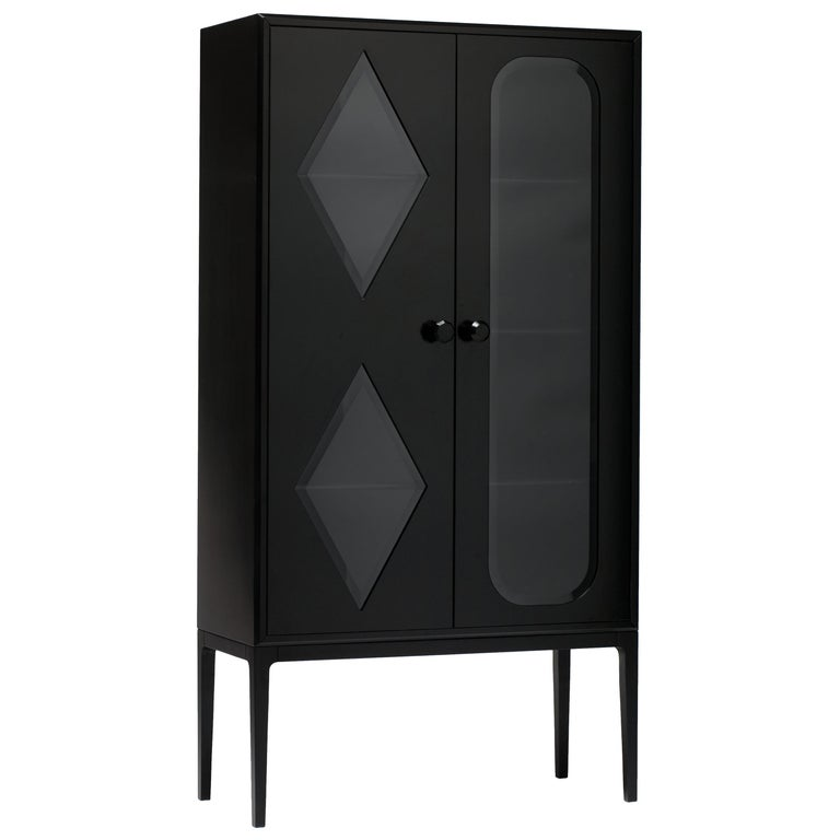 Established & Sons Tudor Two-Door Cabinet in Black by Jaime Hayon For Sale