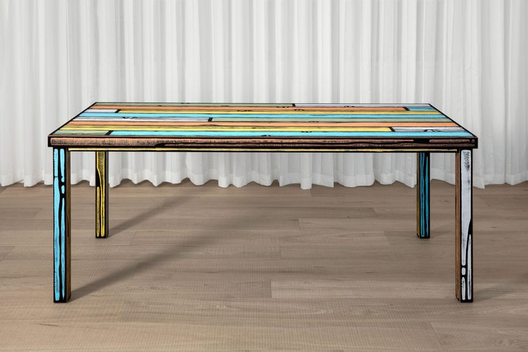 Contemporary Established & Sons Wrongwood Dining Table by Richard Woods & Sebastian Wrong For Sale