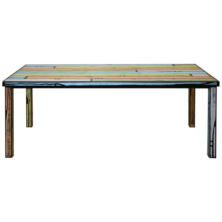 For Sale: Multi (6266) Established & Sons Wrongwood Dining Table by Richard Woods & Sebastian Wrong