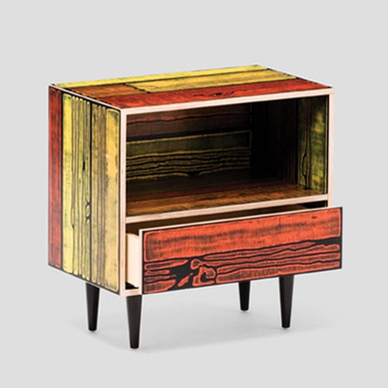 Hand-Painted Established & Sons Wrongwoods Nightstand For Sale