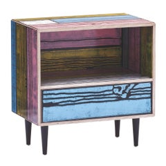 Established & Sons Wrongwoods Nightstand in Pink or Blue Color Combination