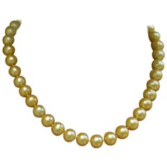 Estate Golden South Sea Cultured Pearl Necklace