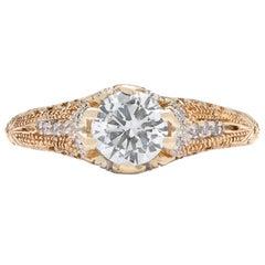 Estate 1.00 Carat E/VS1 Diamond Engagement Ring