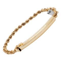 Estate 14k Yellow Gold Braided Bracelet