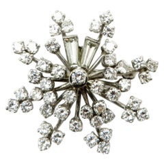 f8f5138ecc57e Estate Vintage Antique Platinum and 18 Karat Gold Snowflake ...