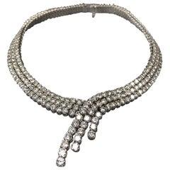 Estate 18 Karat Gold and Diamond Statement Necklace