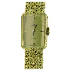"Estate 18 Karat Working Omega ""De Ville"" Ladies Gold Watch"