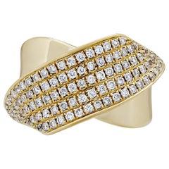 Diamantring aus 18 Karat Gelbgold