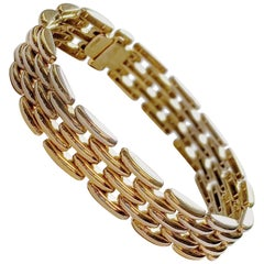 Estate 18 Karat Yellow Gold Link Bracelet