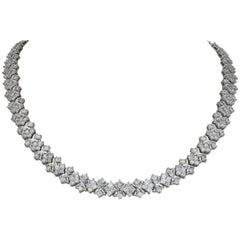 Estate 18.00 Carat Diamond Necklace