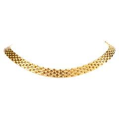 Estate 18 Karat Interlocking Panther Gold Cocker Necklace Signed Mayor
