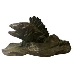 Estate 20th Century Bronze Ornamental Fish Fountain