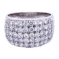 Estate 3 Carat Diamond Pavé Gold Band Ring