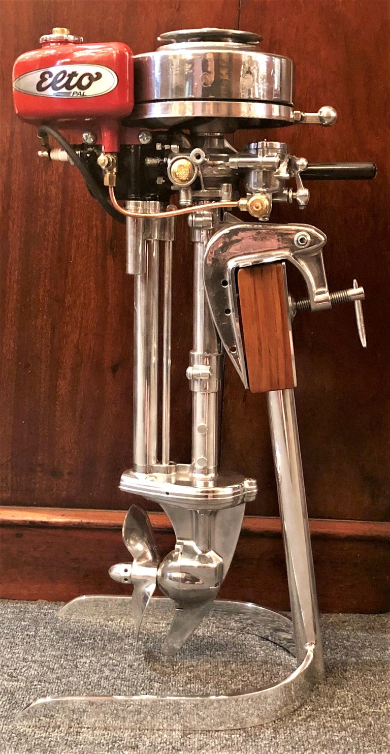 Estate American Evinrude 'Elto Pal' Outboard Motor on Custom Stand, Circa 1940's For