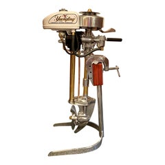 Estate American Yuengling Neptune Outboard Motor on Custom Made Stand Circa 1960