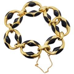 Estate Angela Cummings Tiffany & Co. Enamel and Gold Bracelet