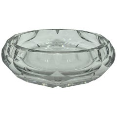 Estate Art Deco Baccarat Crystal Substantial Centerpiece Bowl, 1930s