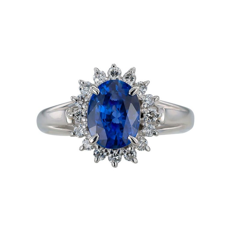 Estate blue sapphire diamond and platinum ring circa 1990. *  Love it because it caught your eye, and we are here to connect you with beautiful and affordable jewelry.  It is time to claim a reward for Yourself!  Simple and concise information you