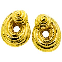 Estate Collection David Webb Faceted Earrings