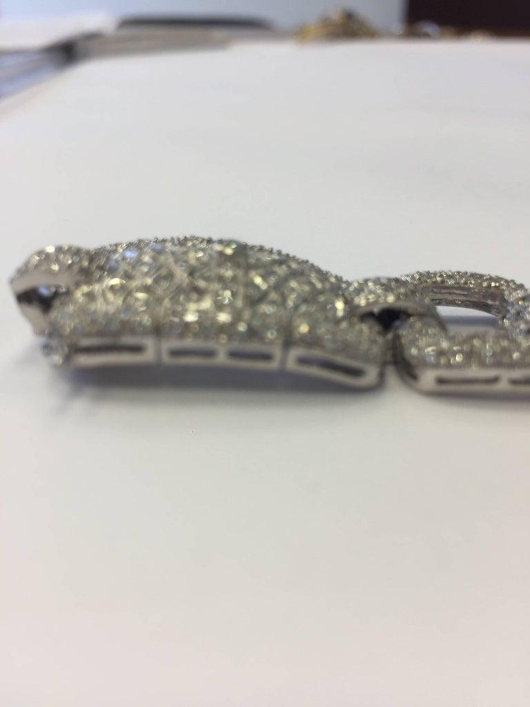 Women's or Men's Estate Designed Diamond Bracelet in 18 Karat White Gold For Sale