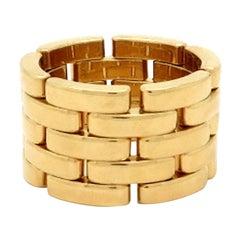 Estate Designer Cartier Panthere 18 Karat Yellow Gold Ring Serial Number 700053