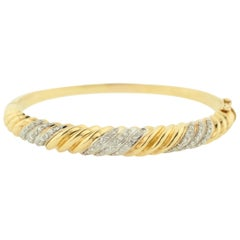 Estate Diamond and Gold Bangle