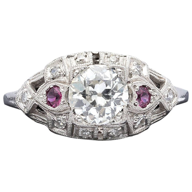 Ruby Engagement Rings For Sale