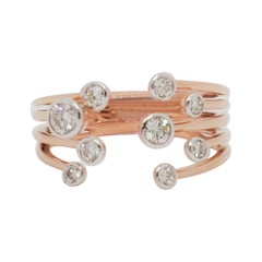 Estate Diamond Bubble Ring in 14k Rose Gold