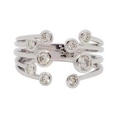 Estate Diamond Bubble Ring in 14k White Gold