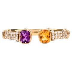 Amethyst Cuff Bracelets