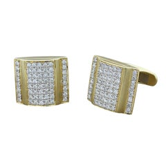 Estate Diamond Gold Cufflinks Box Design