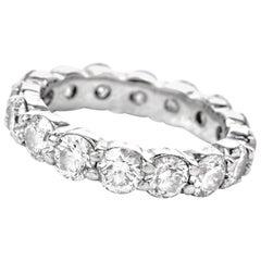 Estate Diamond Platinum Round Classic Eternity Band Ring