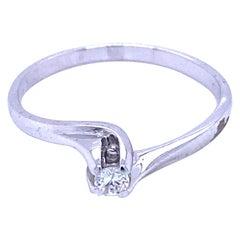 Estate Diamond Valentino Solitaire Ring