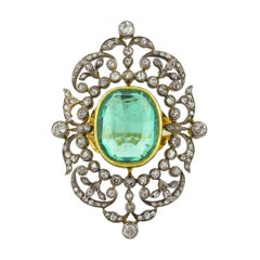 Estate Emerald Diamond Cocktail Ring