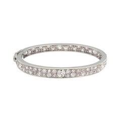 Estate European Cut Diamond Gold Eternity Bracelet