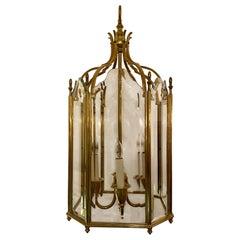 Estate French Gold Bronze Lantern, circa 1950