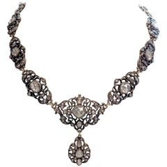 Estate Georgian Style Rose Cut Diamond Necklace