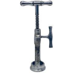 Estate German Polished Steel Auto Puller Corkscrew
