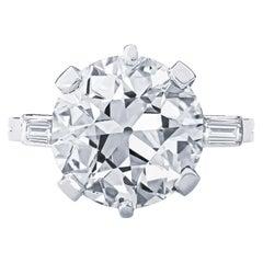 Estate GIA Certified Art Deco Boucheron 5.90 Carat Old European Cut Diamond Ring