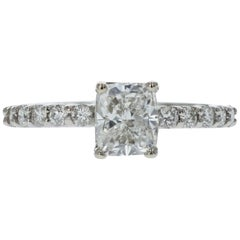 Estate GIA Certified Cushion Diamond Engagement Ring