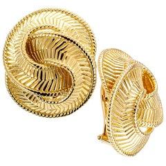 Estate Gold Clip Earrings
