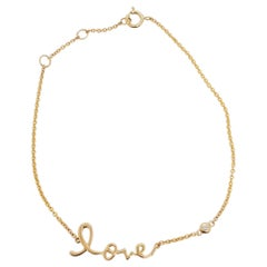 "Estate Gold ""Love"" Bracelet in 14k Yellow Gold"