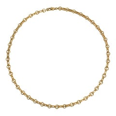 Estate Gold Stylized Gate Link Chain Necklace