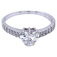 Estate Italian Heart Cut Diamond Engagement Ring