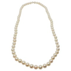 Estate Japanese Akoya Pearl Necklace Long