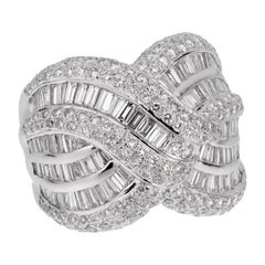 Estate Ladies White Gold Diamond Cocktail Ring