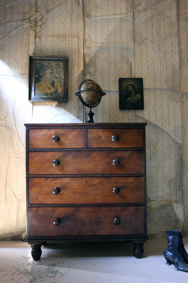 Estate Made Cherrywood and Mahogany Chest of Drawers, circa 1870 For Sale 5