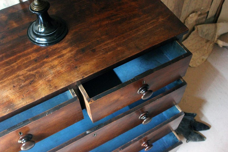 High Victorian Estate Made Cherrywood and Mahogany Chest of Drawers, circa 1870 For Sale